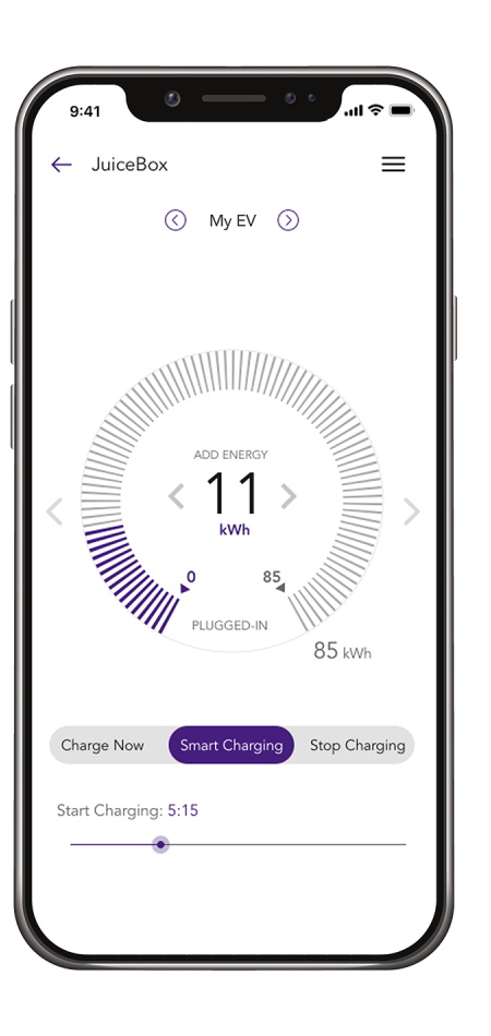 JuiceNet App for JuiceBox - real-time energy market data